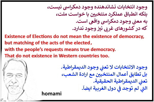 Existence of Elections do not mean the existence of real democracy!