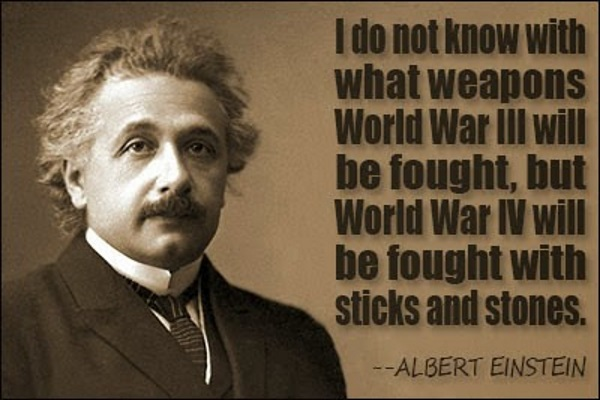 Albert Einstein about World War 3 and 4