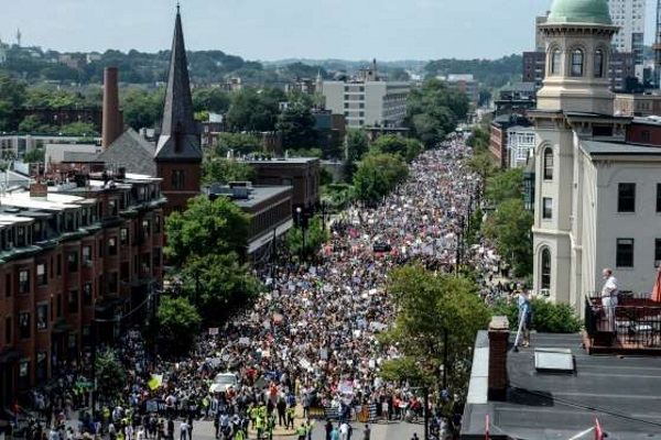 The American people in Boston told the world that he did not want racism.