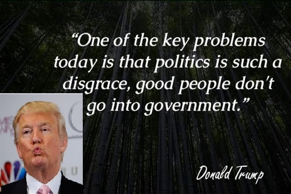 Donald Trump about good people and U.S. government