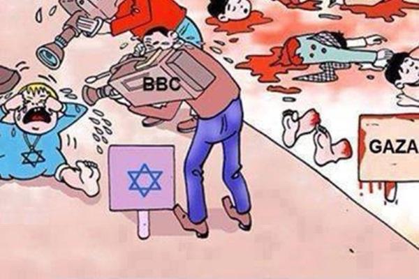 Western media, show the oppressor, like the oppressed.