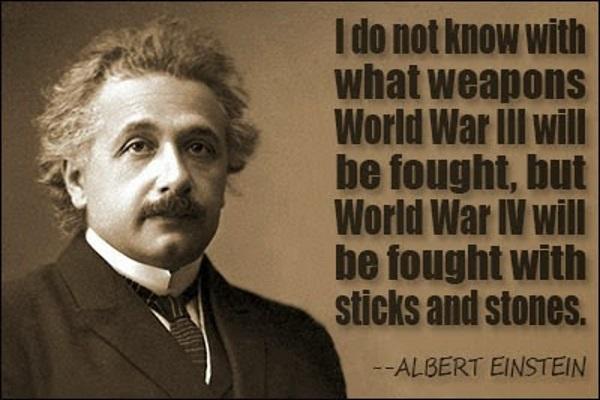 Albert Einstein about World War 3 and 4